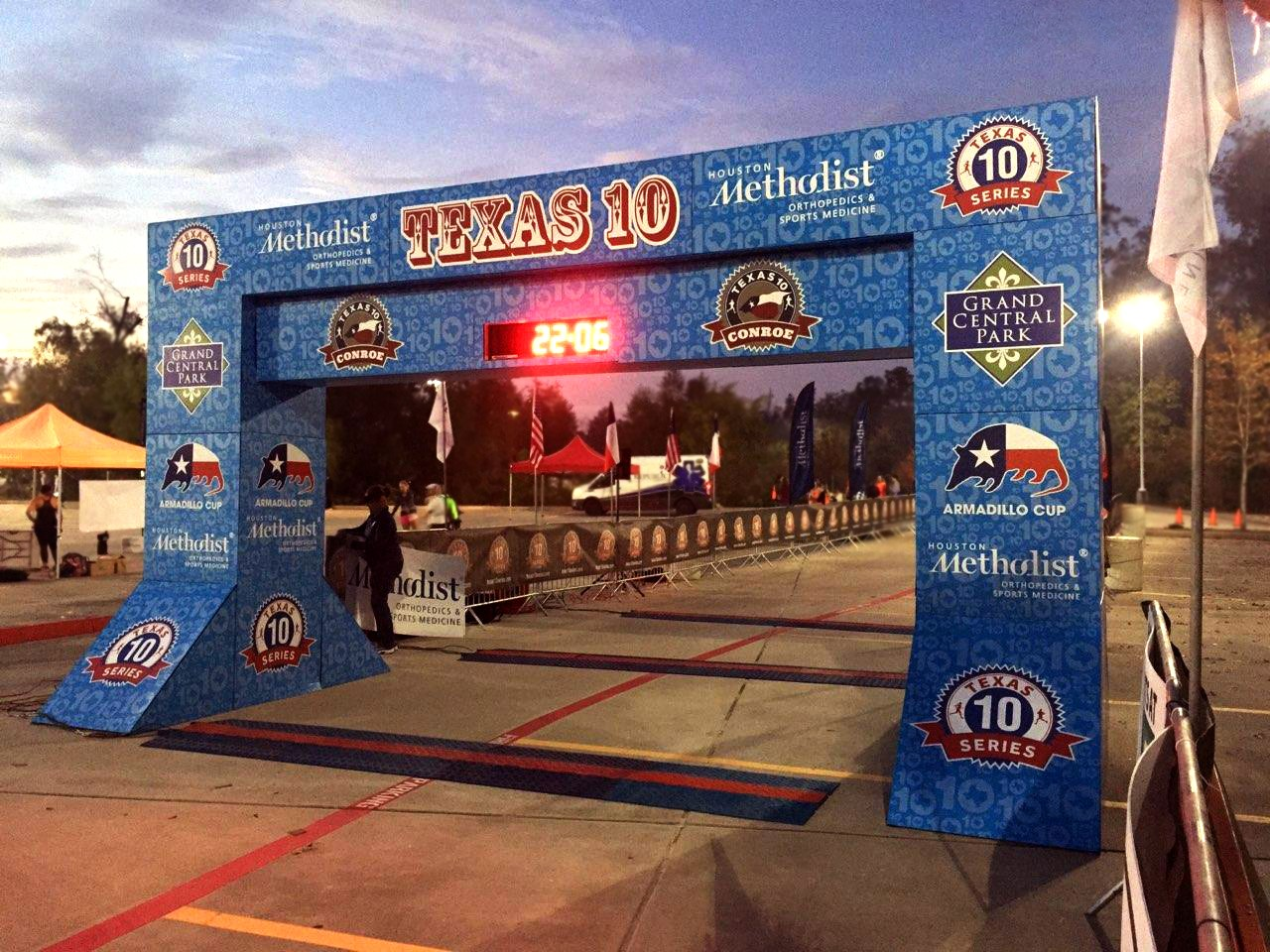 TX 10 Finish Line Structure - Wide Shot
