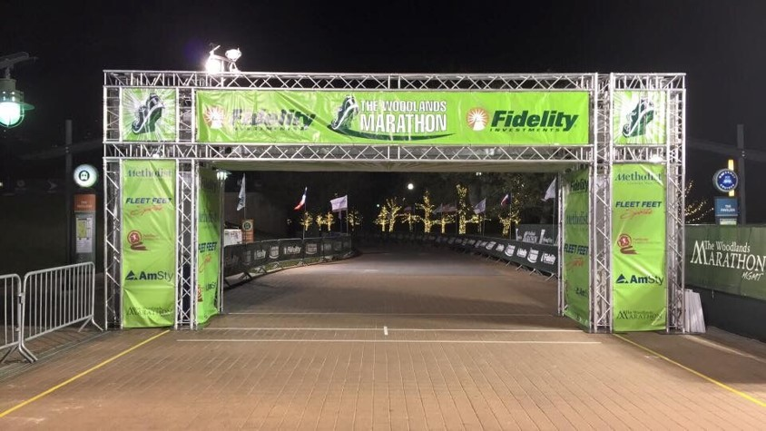 Woodlands Marathon - Finish Line Structure